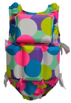 Girl's Flotation Swimsuit - NEW - Gum Ball