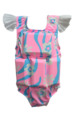 Girl's Flotation Swimsuit- NEW- Tickled Pink