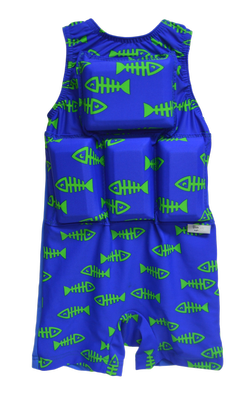 Boys Flotation Swimsuit - NEW - Fish Bones