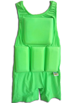 Boy's Flotation Aqua Force-Neon Green w/Zipper