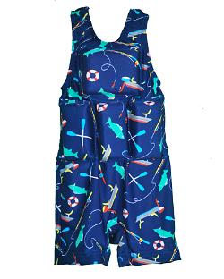 Boy's Flotation Swimsuit - Bass Boat