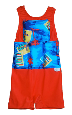 Boys Flotation Swimsuit - Orange Woody