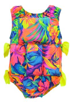 Girl's Flotation Swimsuit-NEW-Tahitian Floral