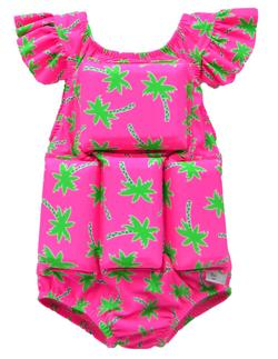 Girl's Flotation Swimsuit - NEW- Palm Tree Princess Sleeve