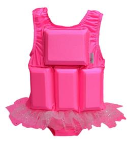 Girl's Flotation Swimsuit - NEW - Pink Sparkle Tutu