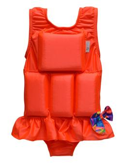 Girl's Flotation Swimsuit - NEW - Orange Sherbet