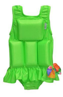 Girl's Flotation Swimsuit - New- Lime Sherbet
