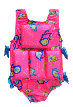 Girl's Flotation Swimsuit -NEW- Sunglasses