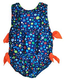 Girl's Flotation Swimsuit - Dots & Daisy