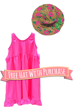 Girl's Swirly Twirly Dress  FREE hat with purchase