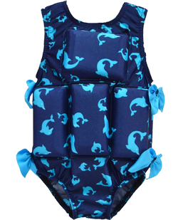 Girl's Flotation Swimsuit - Dolphin