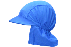Boy's Neck Flap Hat-Royal Blue