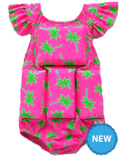 Girl's Flotation Swimsuit - NEW- Palm Tree