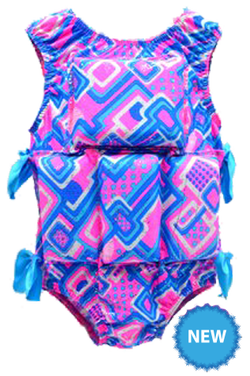 Girl's Flotation Swimsuit- NEW-Razzle Dazzle