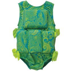 Girl's Flotation Swimsuit - NEW - Lime Paisley