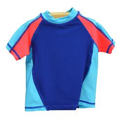 Boy's Rash Guard - Blue & Orange