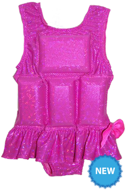 Girl's Flotation Swimsuit- NEW- Raspberry Sparkle