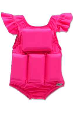 Girl's Flotation Swimsuit-NEW- Pink Princess Sleeve
