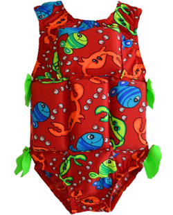 Girl's Flotation Swimsuit - Red Crab