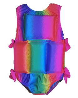 Girl's Flotation Swimsuit - Tie Dyed Rainbow