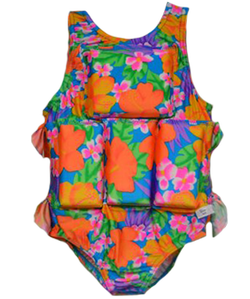 Girl's Flotation Swimsuit - Tropical Garden