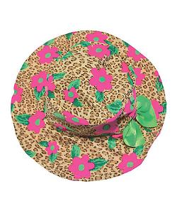 Girl's Floppy Hat - Leopard Daisy
