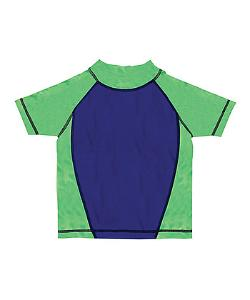 Boy's Rash Guard - Blue & Green